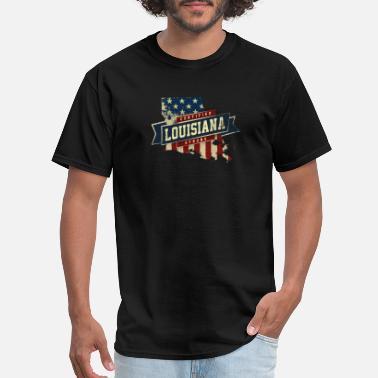 Born and Raised Louisiana State Flag Mens T Shirt
