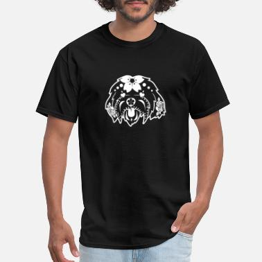 Dead Dog Sugar Skull Maltese Poodle T-Shirt Day Of The Dead - Men's T-Shirt