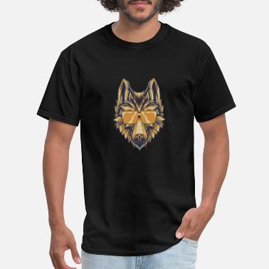 Short Wolf With Sunglasses T-Shirt Canine Wolves Head - Men's T-Shirt