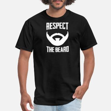 Mustache - Respect It Respect The Beard Funny Goatee And Mustache - Men's T-Shirt