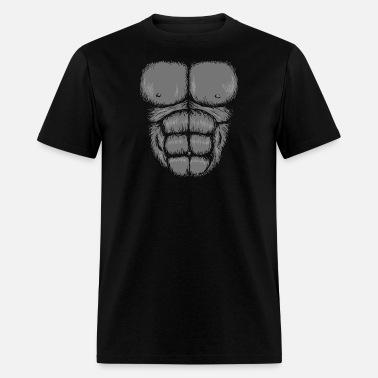 857486b927e6 Costume - gorilla chest | halloween costume suit Men's V-Neck T ...