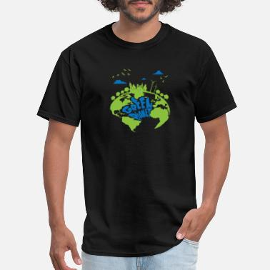 Planet Earth Green Planet Earth City Energy - Men's T-Shirt