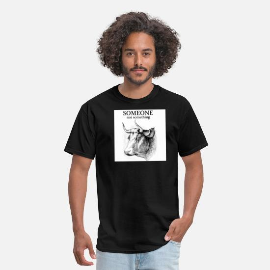 Vegan T-Shirts - someone not something cow women's - Men's T-Shirt black