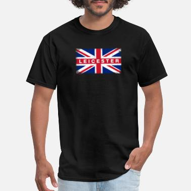 Leicestershire Leicester Shirt Vintage United Kingdom Flag T-Shir - Men's T-Shirt