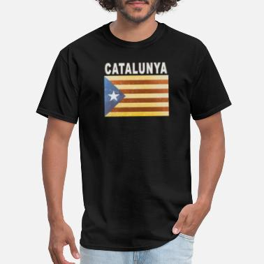 3xl Graphic Catalunya Flag Independent Catalonia Distressed - Men's T-Shirt
