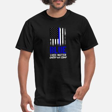 Thin American Flag,Thin Blue Line,Gift,Gift Idea,Police - Men's T-Shirt