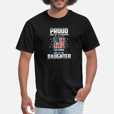 Daughter Of A Soldier Soldier Daughter - Gift - Shirt - Men's T-Shirt