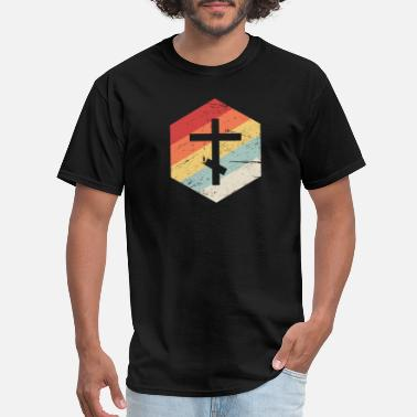 Orthodox Christian Orthodox Church Cross | Retro Christian Icon - Men's T-Shirt