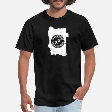 State Border State Of Jefferson | Borders & Seal - Men's T-Shirt