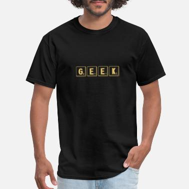 Scrabble Geek Geek - Funny Letter Tiles Scrabble Spelling Game - Men's T-Shirt