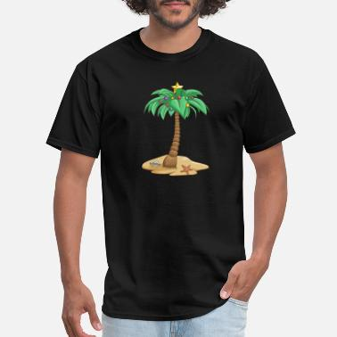 Palm Trees Christmas In July Coconut Xmas Tree - Men's T-Shirt