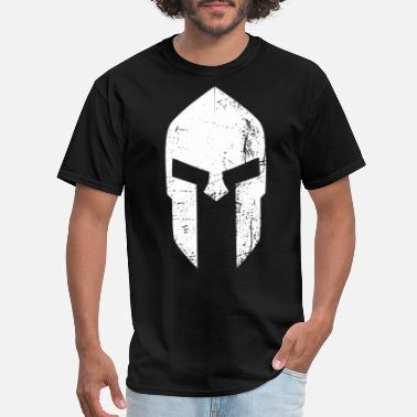 Spartans spartan helmet new white - Men's T-Shirt