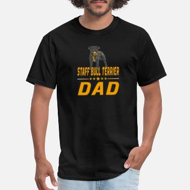 Staff Bull staff bull terrier yellow design - Men's T-Shirt