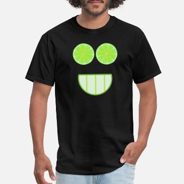 Lime Lime face as a gift idea - Men's T-Shirt