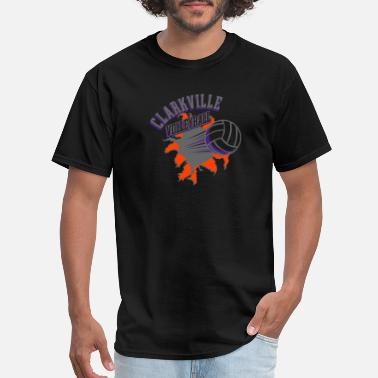 Comic Volleyball CLARKVILLE VOLLEYBALL - Men's T-Shirt