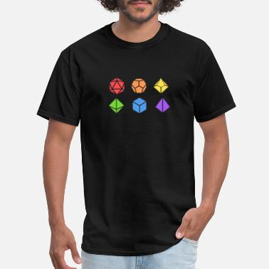 Cthulhu Polyhedral Dice Set LGBT Pride Tabletop RPG - Men's T-Shirt