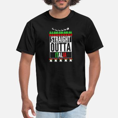 Kiss French Ride Italian Italia - Let's get straight outta italia sweater - Men's T-Shirt