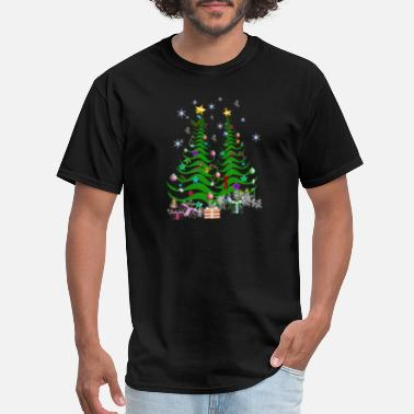 Christmas Tree Decorations artsy christmas tree and decorations - Men's T-Shirt