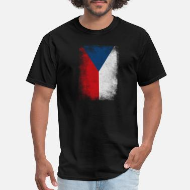 Czech Proud Czech Republic Flag Proud Czech Vintage Distressed - Men's T-Shirt