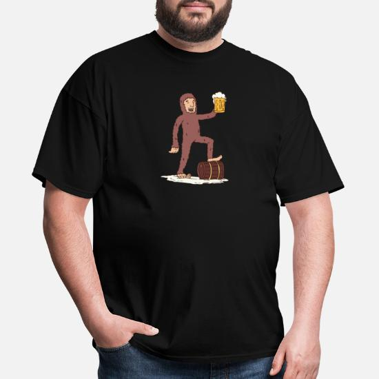3daec799e Funny Bigfoot Beer Yeti Booze Alcohol Believe Gift Men's T-Shirt ...
