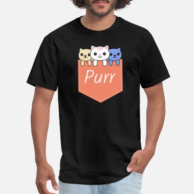 Purr Purr Kittens In The Pocket - Men's T-Shirt