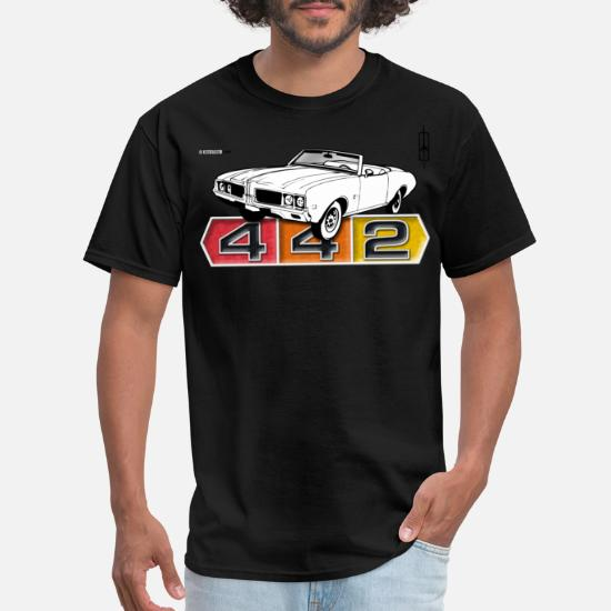 2xl Black Oldsmobile car Newspaper Big Mens T shirt Big and Tall