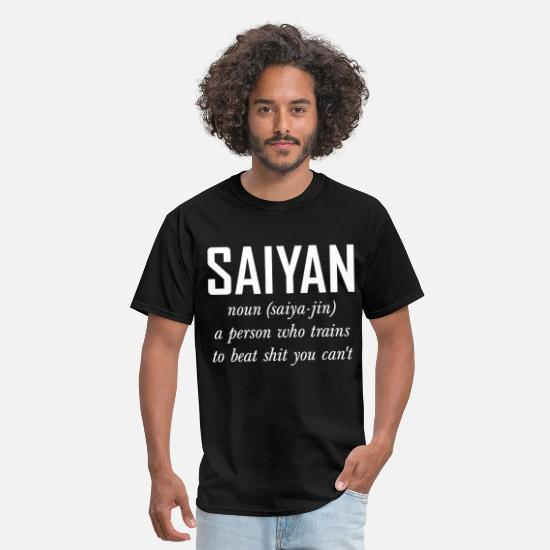 Work Out T-Shirts - Saiyan Noun Dragon Ball Inspired Super Goku Vegeta - Men's T-Shirt black