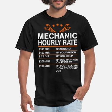 Diesel Funny for Mechanics Hourly Rate for Idiots Hanes P - Men's T-Shirt