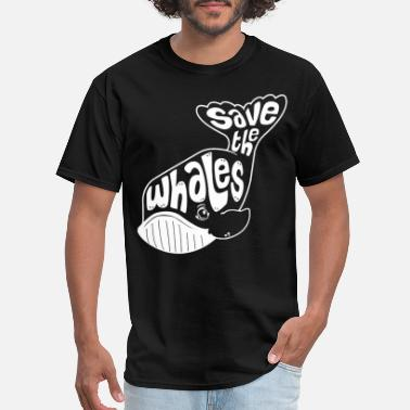 Save The Whales Whale Tail Save the Whales Funny Animal Tee Cool F - Men's T-Shirt
