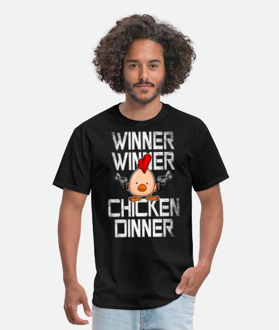 Winner Winner Chicken T-Shirts - Winner Winner Chicken Dinner Men Gamer PUBG - Men's T-Shirt black