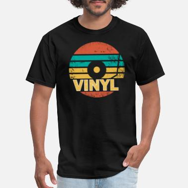 Vinyl Retro Vinyl LP Records Gift I Vintage Vinyls - Men's T-Shirt