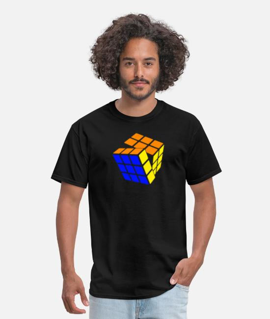 Rubik's Cube T-Shirts - 3 Color Twist - Men's T-Shirt black