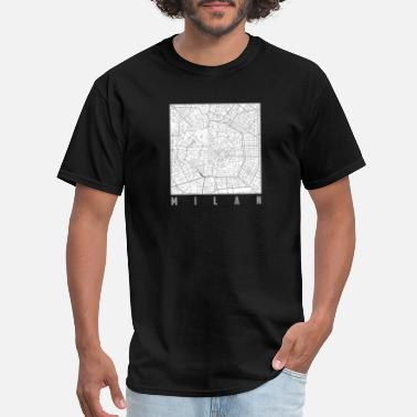 Urban Chic Milan Map - Men's T-Shirt