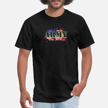 Army Life ARMY & FLAG - Men's T-Shirt