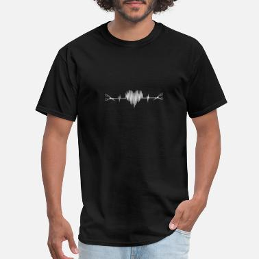 Tshi Hairdresser - Awesome hairstylist heartbeat Tshi - Men's T-Shirt