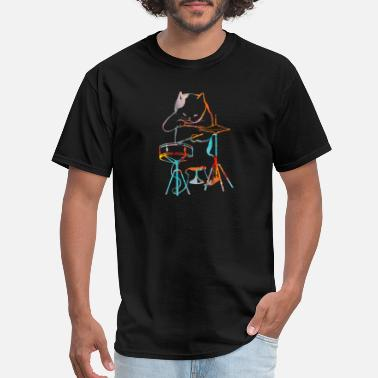 Drum Cat with a drum - Men's T-Shirt