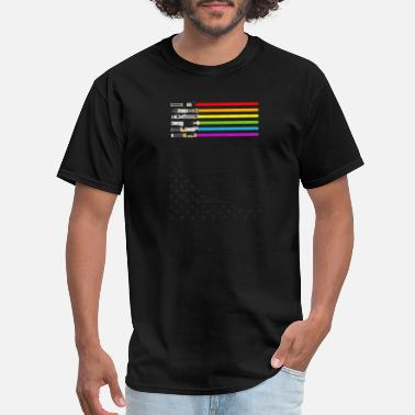 The Force Awakens Lightsaber Rainbow - Men's T-Shirt