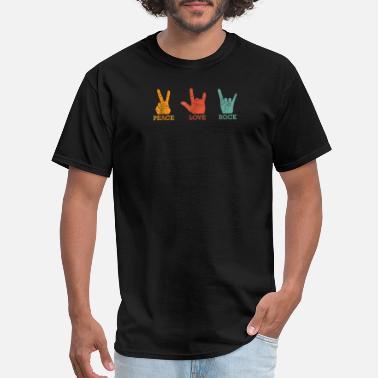 74135c93b Classic Peace Love Rock Vintage T-shirt Concert Ba - Men's