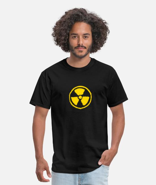 Chernobyl T-Shirts - Radioactive danger symbol - Men's T-Shirt black