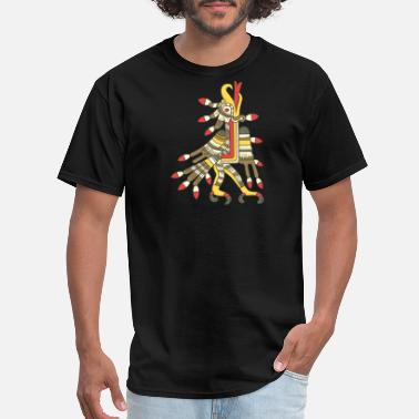 Mexican Art Aztec Eagle Graphic - Men's T-Shirt