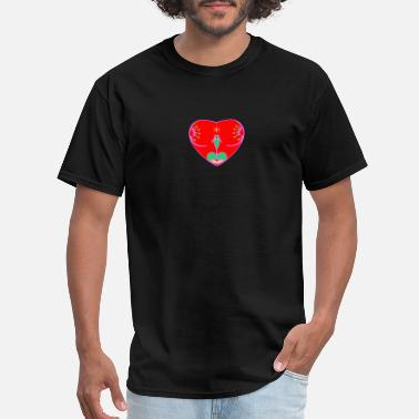 Doggystyle Sexy Subliminal Red heart - Men's T-Shirt