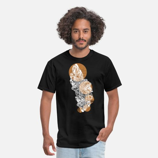 Design T-Shirts - Cool Five Suns and Clouds designer Graphic - Men's T-Shirt black