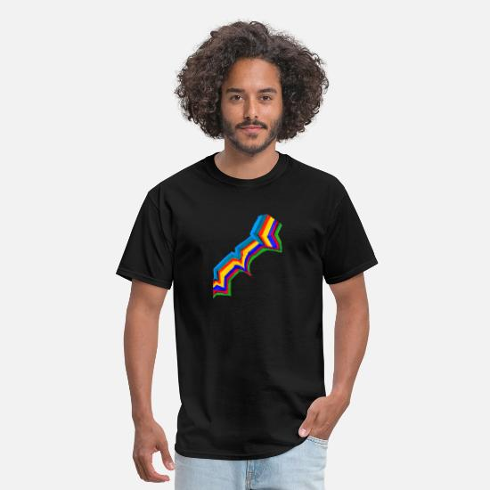 Occupy T-Shirts - connection colorful painting of the mind - Men's T-Shirt black