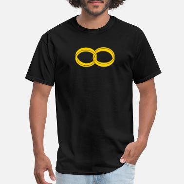 Infinite wedding rings - like a symbol of infinity - Men's T-Shirt
