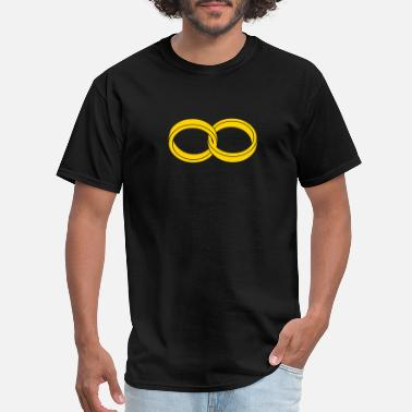 Romantic wedding rings - like a symbol of infinity - Men's T-Shirt