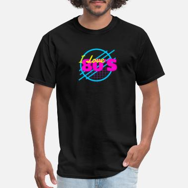 Freestyle Old School I Love 80s retro dance Musik - Men's T-Shirt