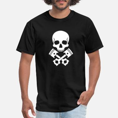 Piston Skull Pistons - Men's T-Shirt