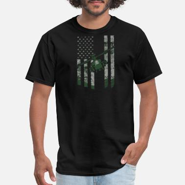 Helicopter Chopper Helicopter - apache helicopter flag - chopper pi - Men's T-Shirt
