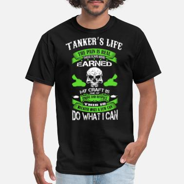Porn Truck Driver takener slife the pain is real these scars were ea - Men's T-Shirt