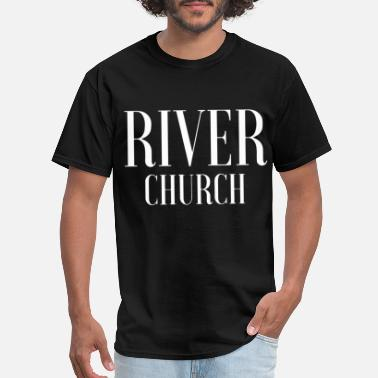 Space Jesus river church jesus - Men's T-Shirt